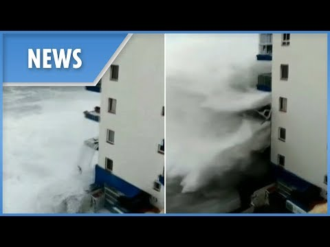 Massive waves devastate Tenerife during worst storm in 40 years