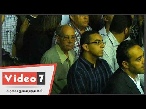 بالفيديو..الصياد والميرازى وشكر و عيسى يشاركون فى عزاء سيف الاسلام بعمر مكرم