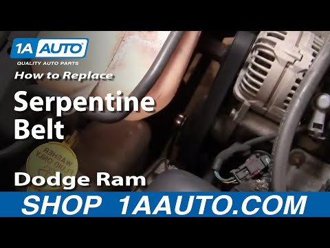 Auto Repair Replace Serpentine Belt Dodge Ram 02-08 5.7L Hemi 1AAuto