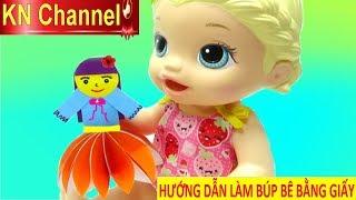 KN Channel BÉ NA LÀM BÚP BÊ BẰNG GIẤY BABY ALVIE DOLL ĐẸP LUNG LINH