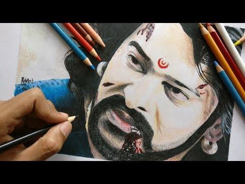 Drawing Bahubali Prabhas | drawing bahubali 2 | drawing prabhas