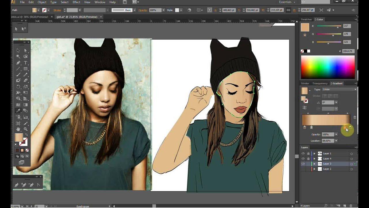 Illustrator рисуем на планшет