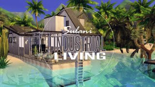 THE SIMS 4 : SPEEDBUILD | ISLAND LIVING| INDUSTRIAL LIVING 🧱