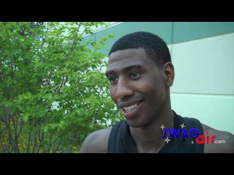 New York Knicks Iman Shumpert Adidas Nations 2010 Highlights & Interview with Dan Poneman (SwagAir)