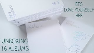 [UNBOXING] BTS (Bangtan Boys) 방탄소년단 Love Yourself 'Her' L.O.V.E. + 12 More Albums!