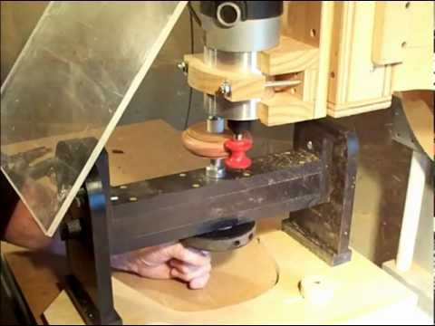 Making a simple wood bracelet with router milling machine lathe attachment