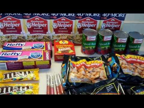 Dollar Tree Coupon Haul! Build Prepper SHTF Stockpile Using Coupons! :)