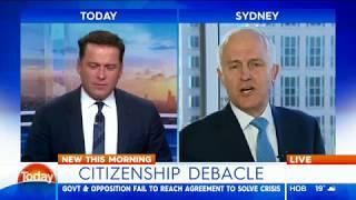 Today Karl Stefanovic vs Malcolm Turnbull
