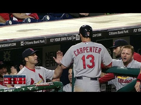 STL@PHI: Carpenter's sac fly puts the Cardinals ahead