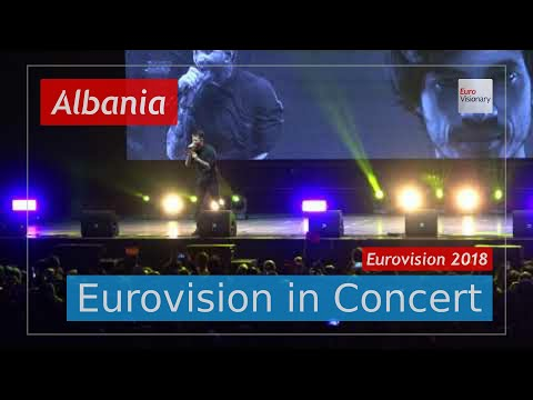 Albania Eurovision 2018 Live (4K): Eugent Bushpepa - Mall - Eurovision in Concert