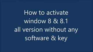 How To Activate & install Windows 8 Pro ,All Version ,Step By Step 2019