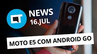 Celular da Microsoft com Android; Moto E5 Play Android Go; Mi Max 3 e+ [CT News]