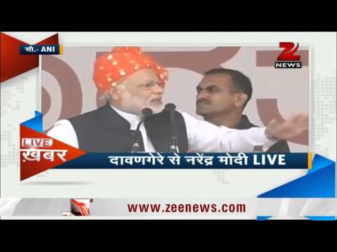 Narendra Modi attacks Congress in Davangere rally