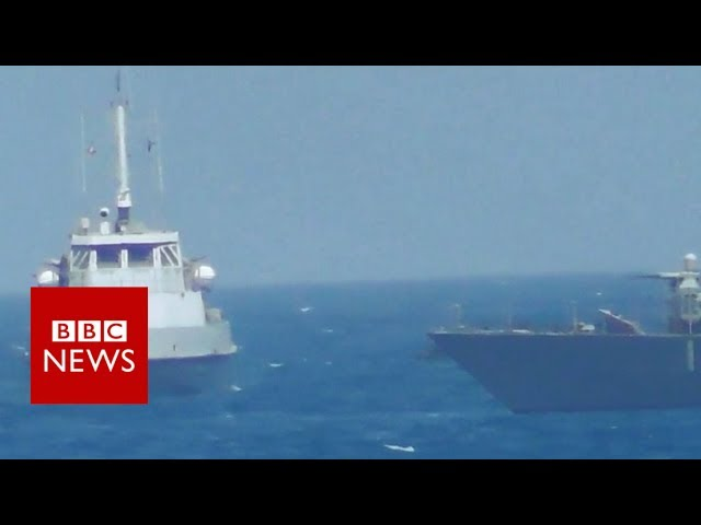 US Navy fires warning shots at Iranian ship- BBC News