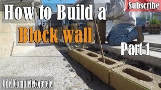 How to Build and Setup a  Block wall  Foundation Part 1 Slump Stone