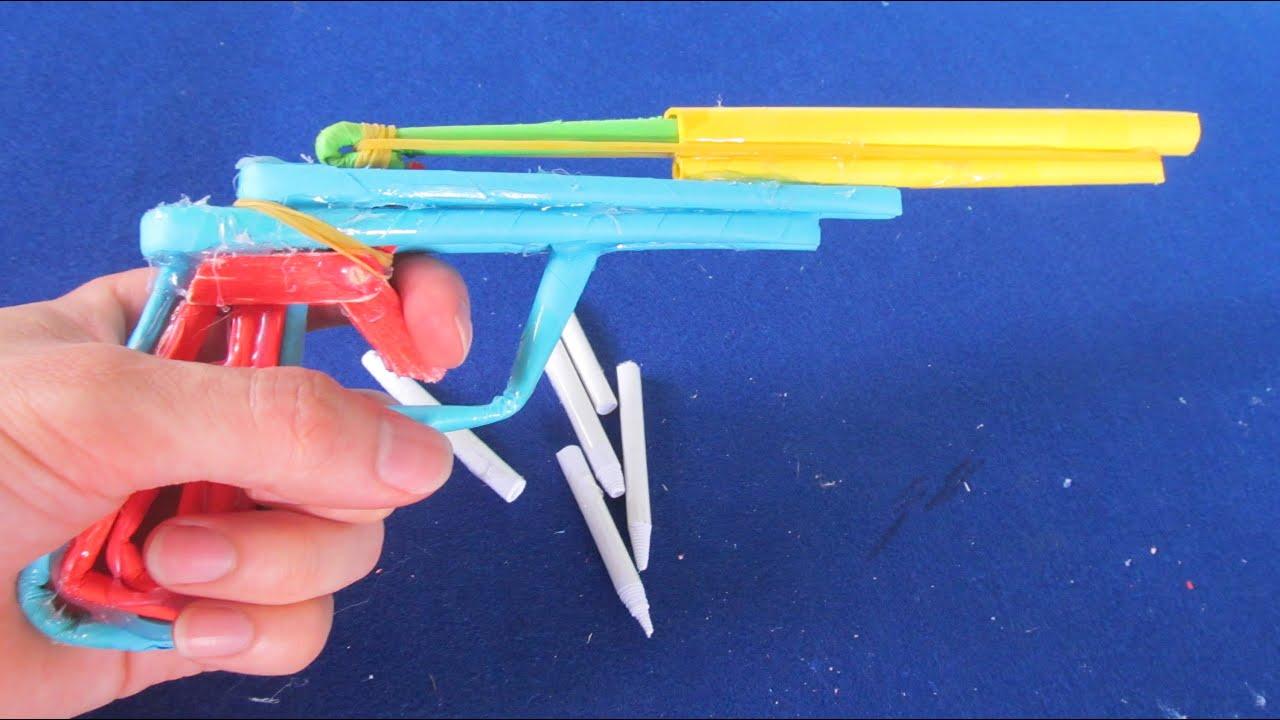 Как Сделать Автомат Из Бумаги Стреляющий 45