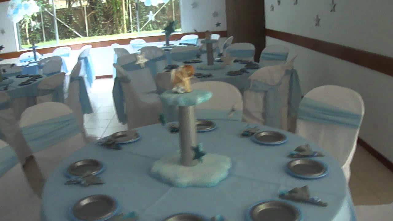 Fiesta tematica icopor bautizo simon sep 11 2011 vista general del salon desde ingreso - Como decorar un salon para bautizo ...