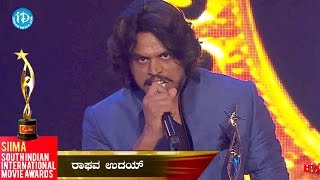 SIIMA 2014 || Best Actor in Negative Role Kannada || Raghav Uday