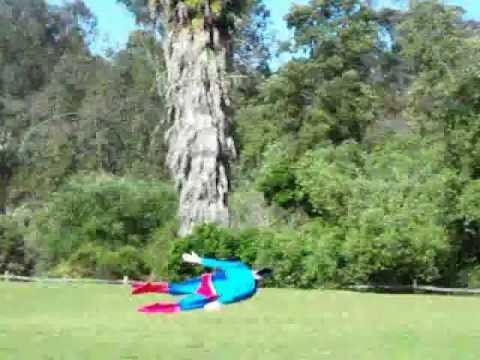 RC Superman superhero flown by Otto Dieffenbach in Rancho Santa Fe