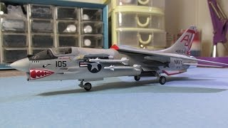 Building Minicraft/Hasegawa F8-E Crusader. From Start to Finish. 1/72 Scale