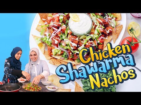 Chicken SHAWARMA Nachos | NEW Healthy Middle Eastern Recipe!