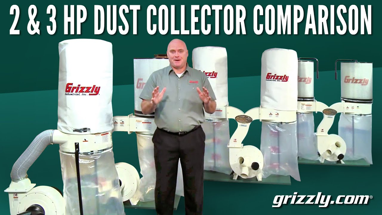 2 & 3 HP Dust Collector Comparison - YouTube