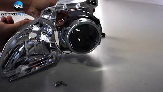 Subaru Legacy Outback Replace bad headlight projector tutorial