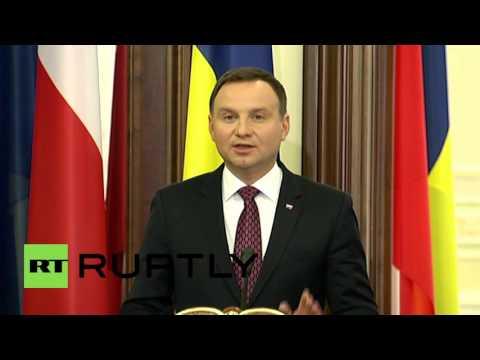 Ukraine: Poland's Duda says Ukraine should attend 2016 NATO summit in Warsaw