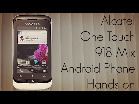 Alcatel One Touch 918 Mix Android Phone Hands-on - PhoneRadar