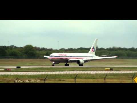 American airlines 767-300 Landing at Dallas/Fort Worth International Airport [HD]