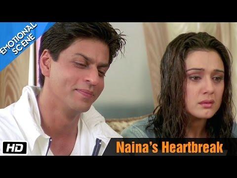 Emotional Scene - Naina's Heartbreak Scene - Kal Ho Naa Ho - SRK, Preity