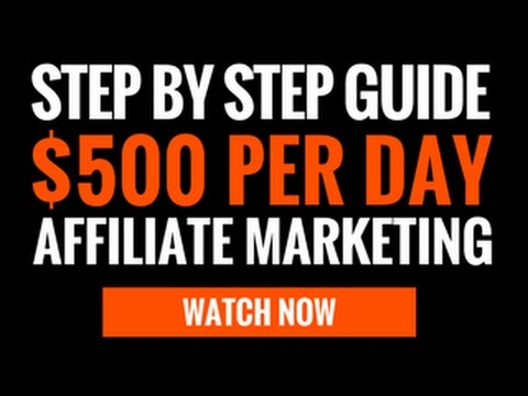 Simple 7 Step Beginners Guide To Affiliate Marketing In 2017 - Step-By Step Training