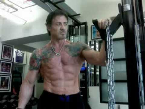 Sylvester Stallone 62 Years Old Training Youtube