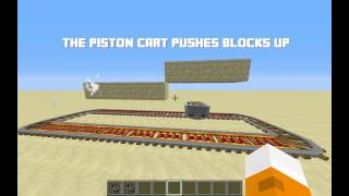 Minecraft - Piston Minecarts with only one command!