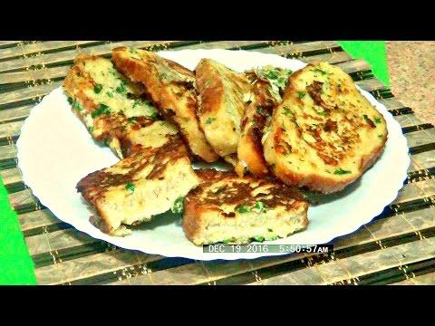 Как приготовить  вкусные сырные гренки легко и просто