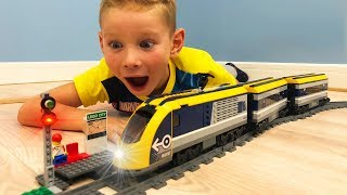 TRAIN and RAILWAY 60197 Lego videos for children high-Speed train as in Europe did the accident