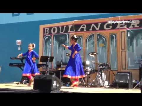 Traditional Kathak style dancing from India at Ecole Bilingue de Berkeley fundraiser. Asha Baudari-G