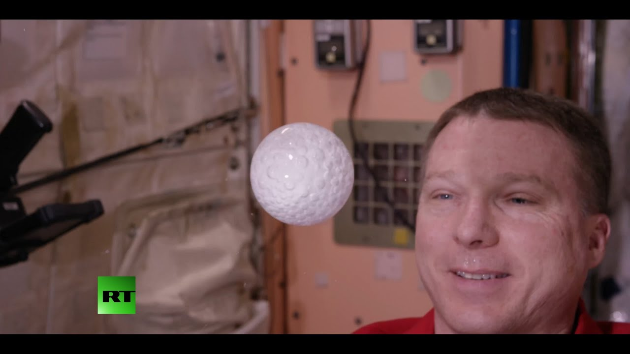 For science! Astronaut creates effervescent water bubble in space laboratory