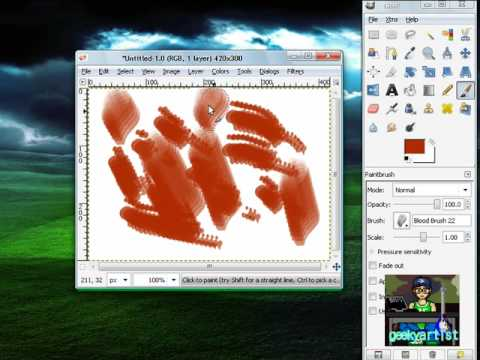 GIMP: A Bloody Set Of Brushes Free Download