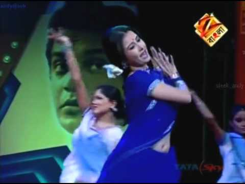 Monami Ghosh (bengali Actress Sexy In Blue Saree On Tv Stage (online Video).flv video