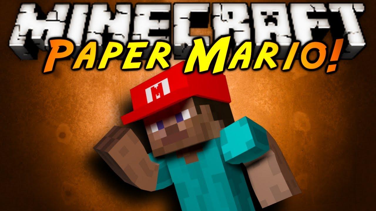 Minecraft mod showcase paper mario youtube