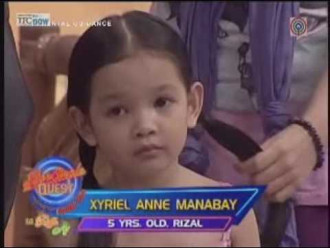 Agua Bendita/Momay's Xyriel Anne Manabat on SCQ Kiddie Idol (6.10.09)