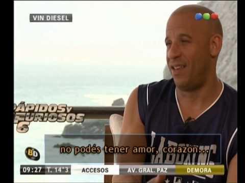 Rápidos y Furiosos 6: a solas con Vin Diesel y Michelle Rodríguez - Telefe Noticias