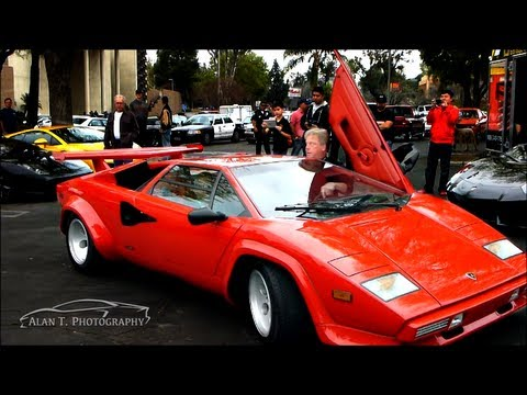Crazy Parking Style! How to Park a Lamborghini Countach in Style! Caption This