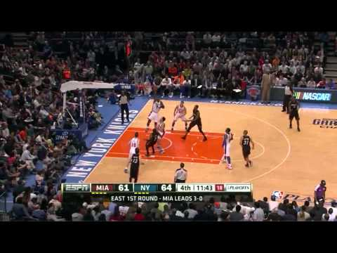 Lebron James Dwyane Wade combined 49 points vs NY Knicks full highlights NBA Playoffs 2012.05.06