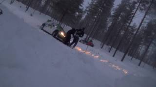 Arctic Rally 2017 Al-Rajhi crash