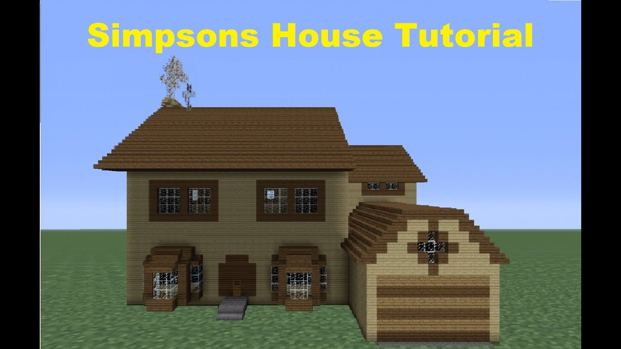 Minecraft 360 how to build the simpsons house house Step by step to build a house