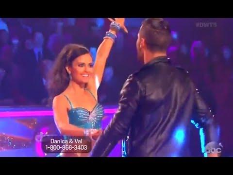 FULL DWTS 18 Week 6 Episode 6  : Danica McKellar and Val - Cha Cha Cha (4/21/2014)