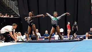 Simone Biles Triple Double on Floor