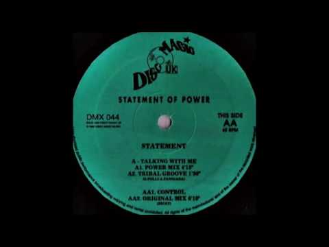 Statement - Talking With Me Power Mix Oldskool Piano 1993